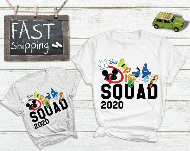 Custom Disney Squad Family Vacation Matching Shirts, Disney Family Matching Shirts 2020, Disney Cruise Shirts, Disney Bound