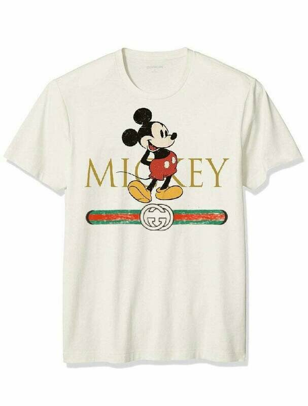 Designer inspired Mickey Mouse Gucci shirt