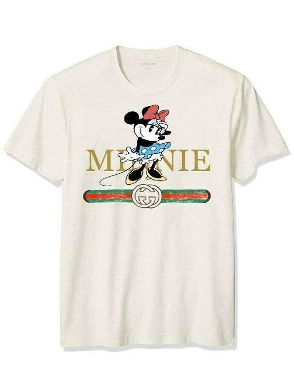 Designer inspired Minnie Mouse Gucci shirt