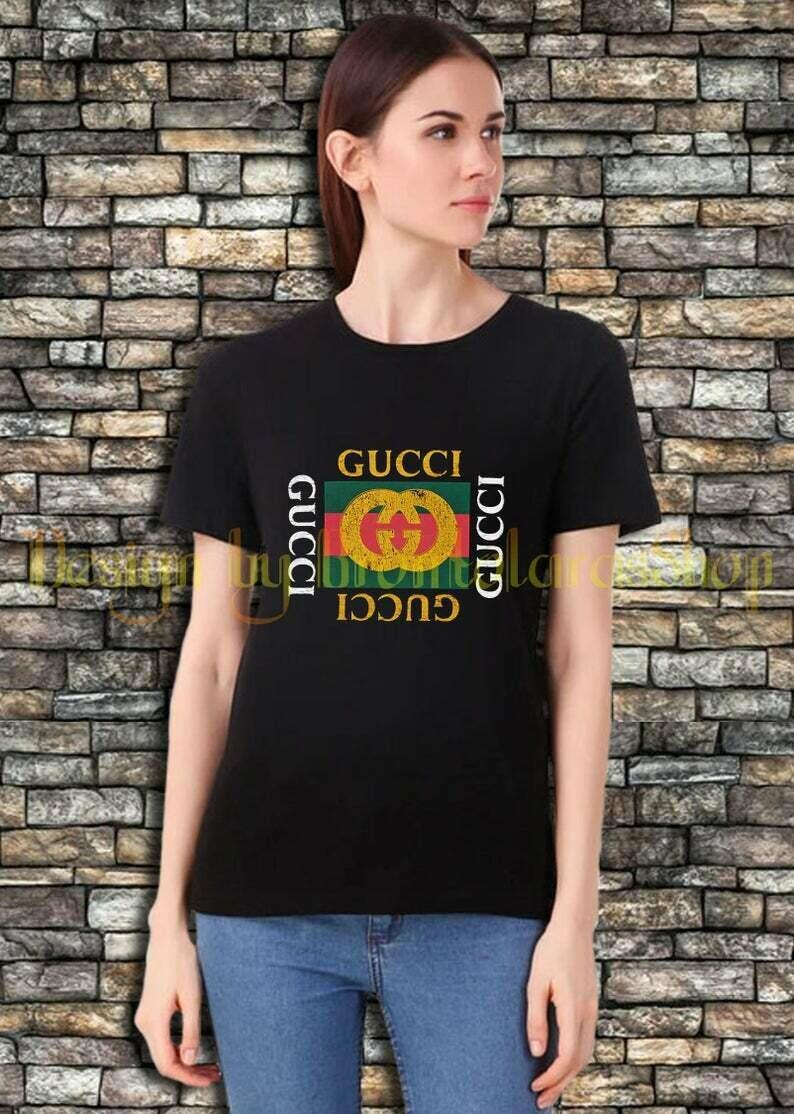 Designer Inspired Gucci T Shirt Fashion Casual Women T-Shirt