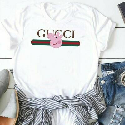 Peppa Gucci Gucci Shirts Gucci T-shirt Gucci Logo Gucci Fashion shirt Fashion shirt Gucci Design shirt Snake Gucci vintage shirt