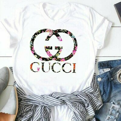 Logo Gucci Flower, Gucci T-shirt, Gucci Logo, Gucci Fashion shirt, Fashion shirt, Gucci Design shirt, Snake Gucci vintage T-shirt