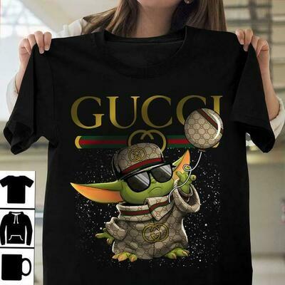 baby yoda Gucci, Gucci Shirt, Gucci T-shirt, Gucci Logo, Gucci Fashion shirt, Fashion shirt, Gucci Design shirt,Snake Gucci tee