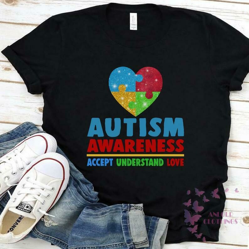 Autism Awareness Accept Understand Love Shirt - Gift Ideas For Men Women - Autism Month - Puzzle Heart Tee - Autism T-shirt