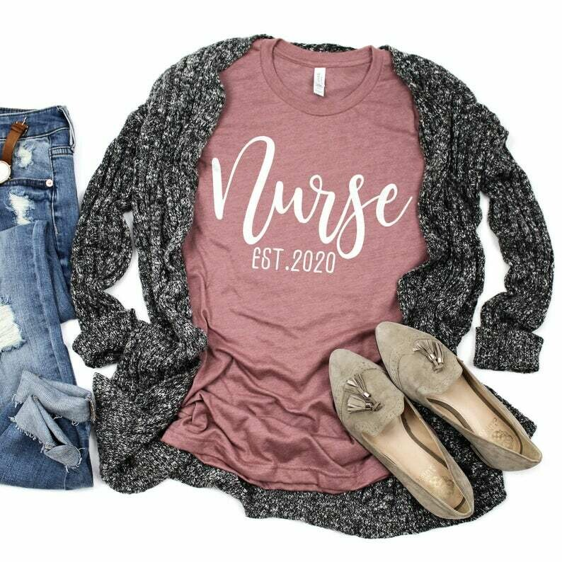 Nurse Shirt, Nurse Est. Shirt, Nursing Student, Nurse Appreciation, RN Shirt, Future Nurse, Medical Shirt, Unisex Graphic Tee