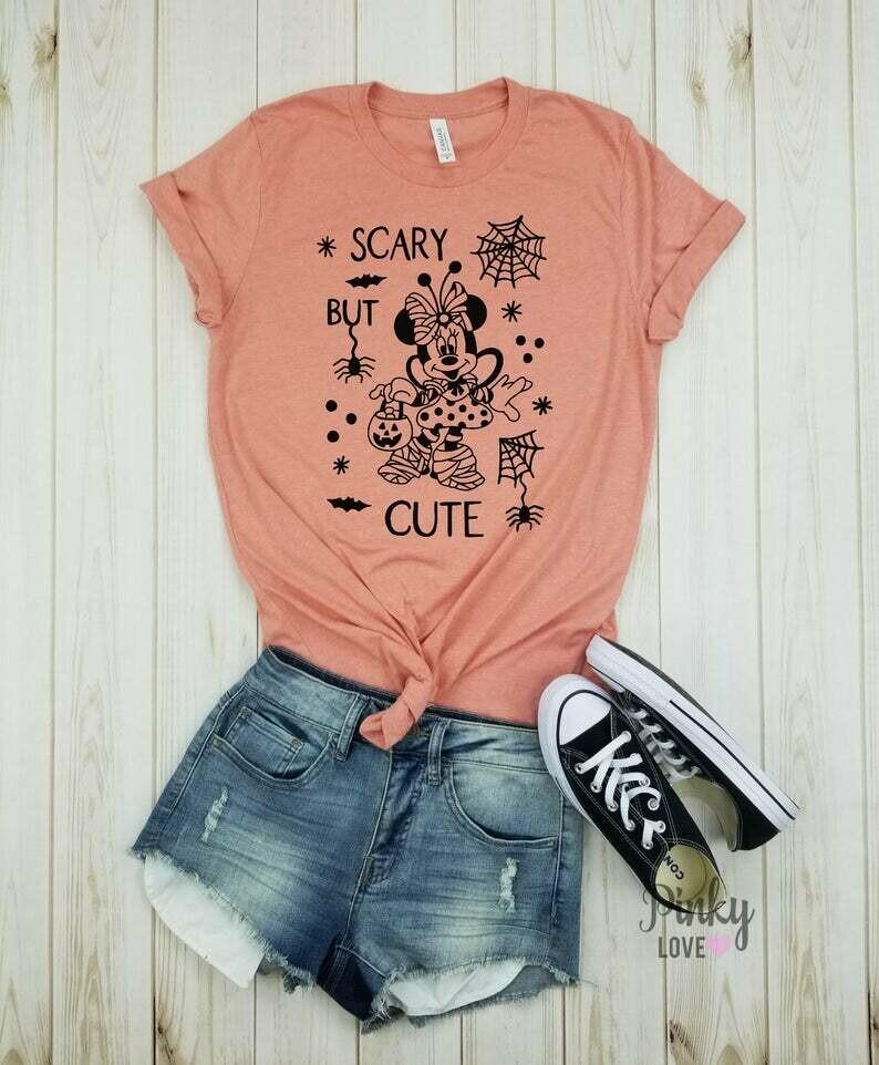 Minnie scary but cute - unisex shirt | disney halloween | disney vacation shirts | disney shirt | mickey halloween | halloween disney shirt.