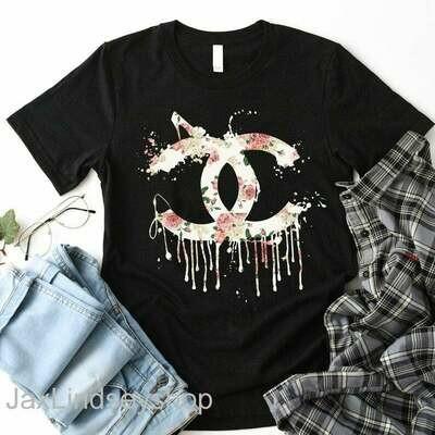 Chanel shirt, Chanel Tshirt, chanel floral,chanel hoodie Fashion vintage fashion t shirt Fashion shirt for Women Men, Unisex Tee