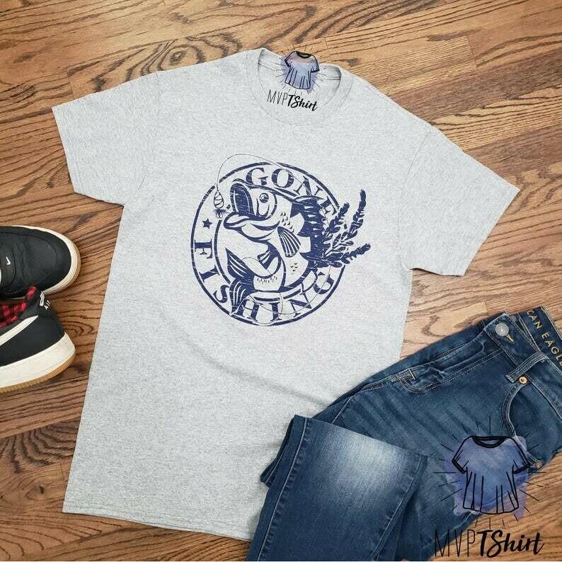 Fishing Shirt-Gone Fishing Shirt-Gone Fishing Back by Hunting Season-Men Gone Fishing Funny TShirt-Birthday Shirt-Fisherman Shirt-Mens Shirt