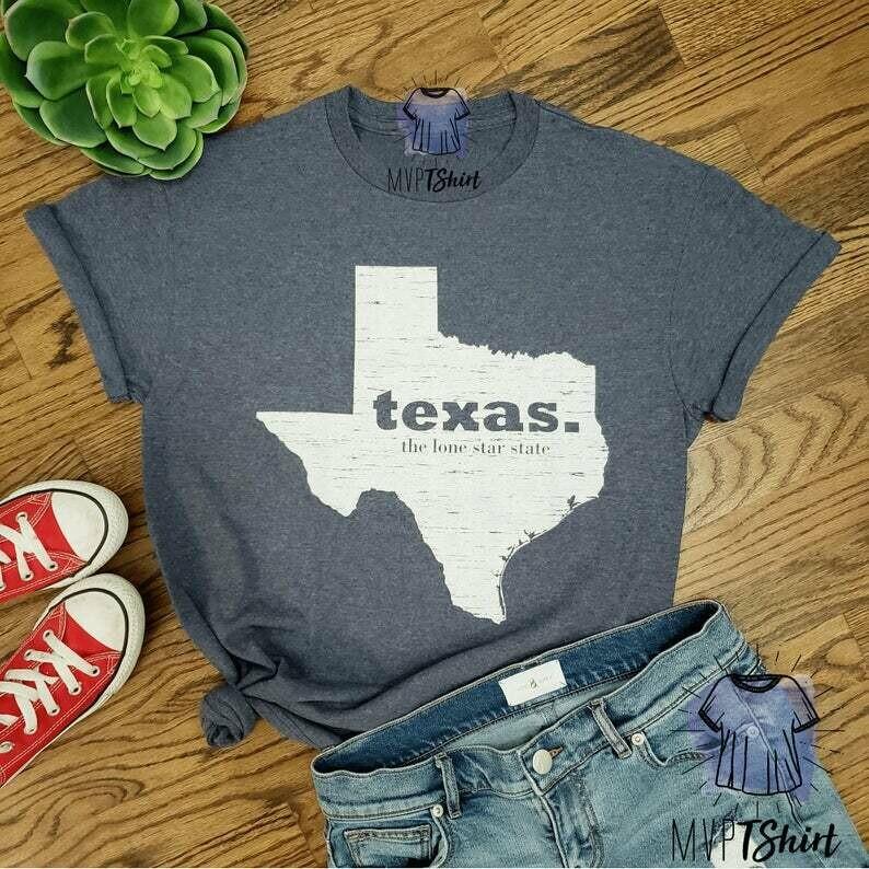 Texas Lone Star State Map Shirt-Texas Souvenir Shirt-Texas Pride Tee-Shirt with Saying-Moving Gift-Homesick Gift Tee-Texas Lover Vintage Tee