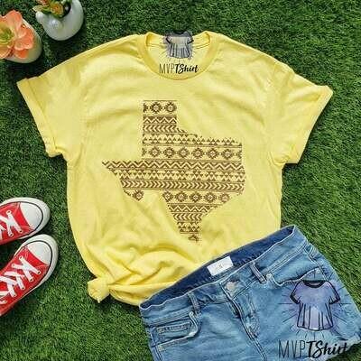 Texas Shirt-Texas Aztec Map Shirt-Texas Souvenir Tee-Texas Pride Tee-Shirts with Saying-Texas Girl Shirt-Texas Gift-Texas Homeland Lover Tee