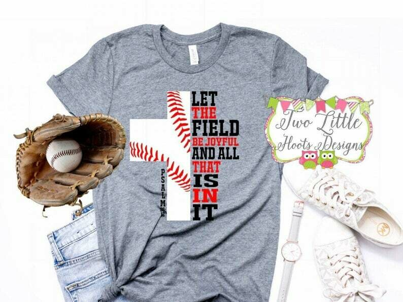 Costcotee Lets The Field Be Joyfull Baseball Shirt - Baseball Shirt ~ Baseball Mom Tee ~ Baseball shirts ~ Baseball Mom Shirts ~