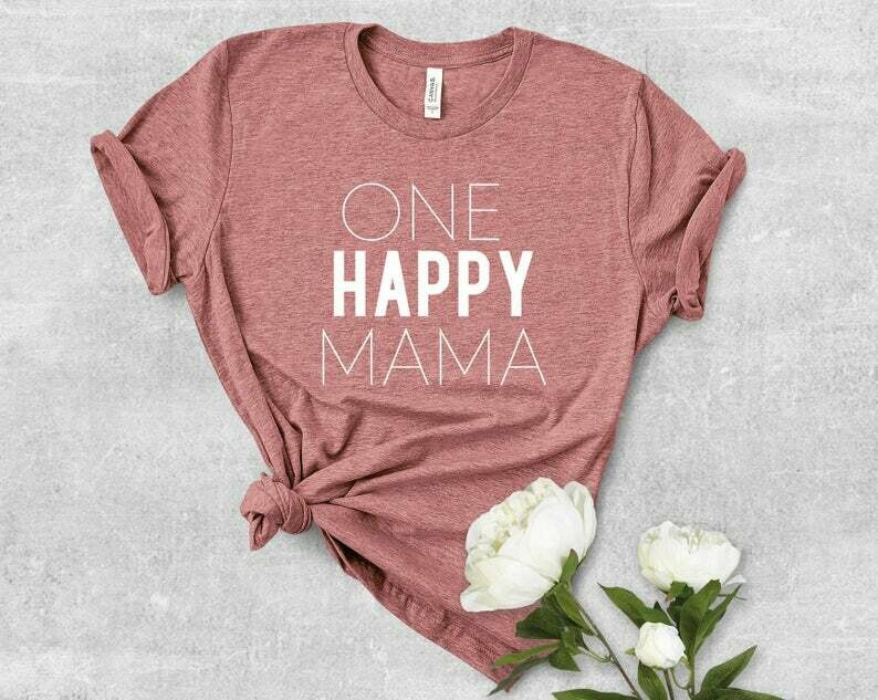 Costcotee One Happy Mama, Mama Shirt, Mama, Cool Mom Vibes, Cool Mom, Mom Vibes, Gifts for Mom, Mom Shirt, Workout Shirt, Yoga Shirt, Mom Shirt