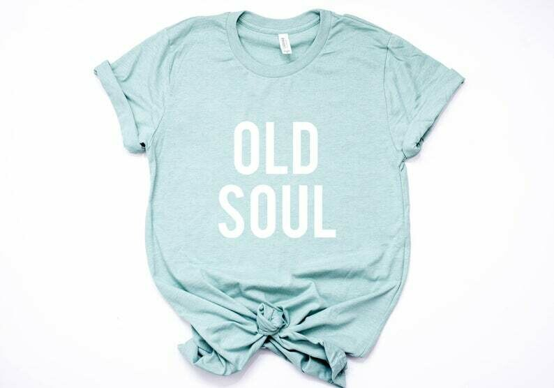 Costcotee Old Soul T-Shirt, Women's Tee, Funny Adult Shirts, Graphic T-Shirt, Graphic Tees, Gifts for Her, Workout Shirt, Gym Shirt, Tees,