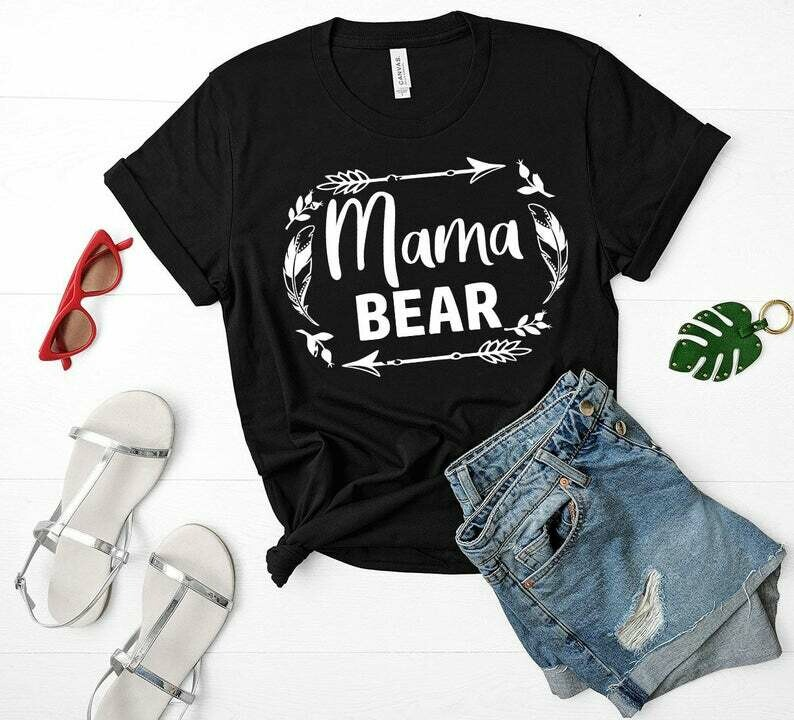 Costcotee Mama Bear Shirt - Gift For Mothers Day, Mama Bear Shirt, Momma Bear Shirt, Boho Mama Bear Shirt,mama Bear Tee, Mom Gift, Mama Tee, Mom Shirt