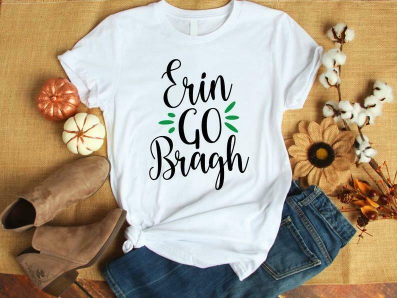 Costcotee St Patrick Day Shirt For Women - Erin Go Bragh, Ireland Shirt, St Patrick Day Shirt Woman, St Patrick Day Decor, St Patrick Day Wreath