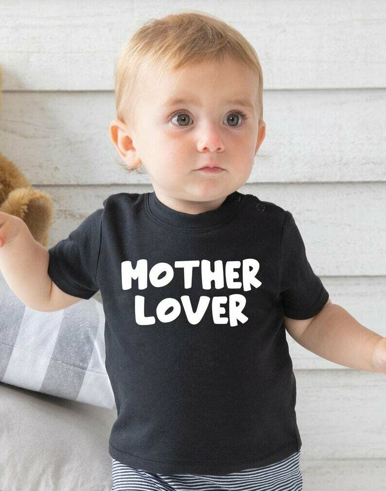Costcotee Mother Lover Shirt For Mothers Day, Best Mothers Day Gift, Mama Shirt, Mama's Boy Shirt For Kids On Mother's Day, Mom Life Shirt