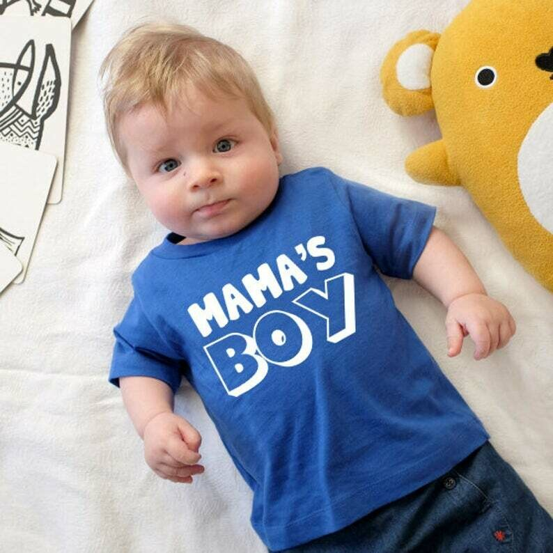Costcotee Mothers Day Shirt - Mama's Boy, Mama's Boy Shirt For Kids On Mother's Day, Gift For Mom, Mommy and Me Shirt