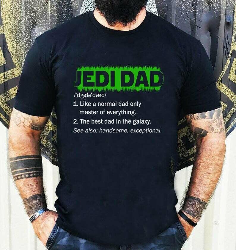 Costcotee Jedi Dad Top, Jedi Master Shirt, Father's Day Gift, Star Wars Shirt, Darth Vader, Dad Shirt, Father's Day Gift, Star Wars Gift for Dad