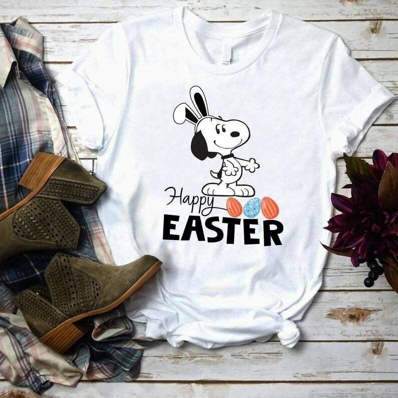 Costcotee Snoopy Happy Easter Shirt, Easter Snoopy Shirt, Peanuts Gang Shirt, Woodstock, Charlie Brown, The Peanuts Movie, Peanuts Snoopy Easter Egg