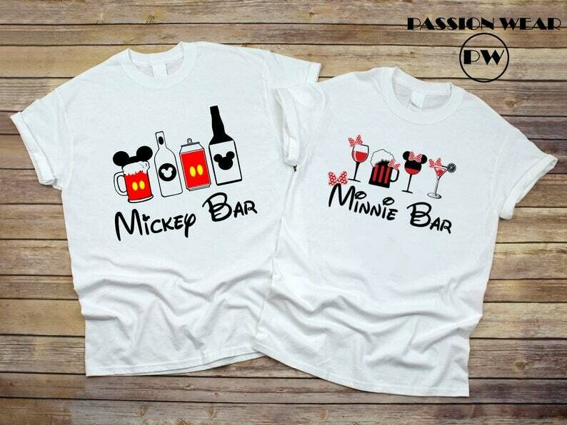 Costcotee Minnie Bar And Mickey Bar, Food and Wine Disney Shirt, Food and Wine Festival - Epcot, Couples Minnie Mickey Bar Matching Shirts, Disneyland