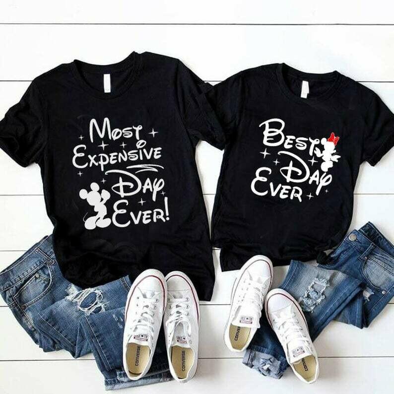 Costcotee Best day ever matching shirt set, Most expensive day ever shirt set, Couples shirt set, Disney Matching Shirt, Disney Cruise, Valentine 2020