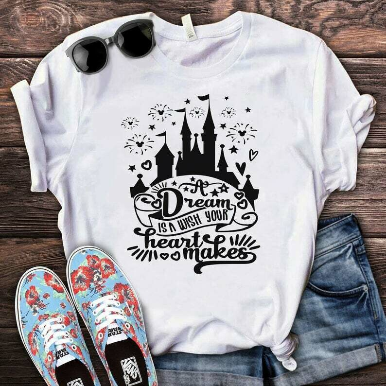 Costcotee A Dream Is A Wish Your Heart Makes Castle Shirt, Disney Shirt for Women, Disney Tee, Disney Princess shirt, Cute Cinderella Shirt