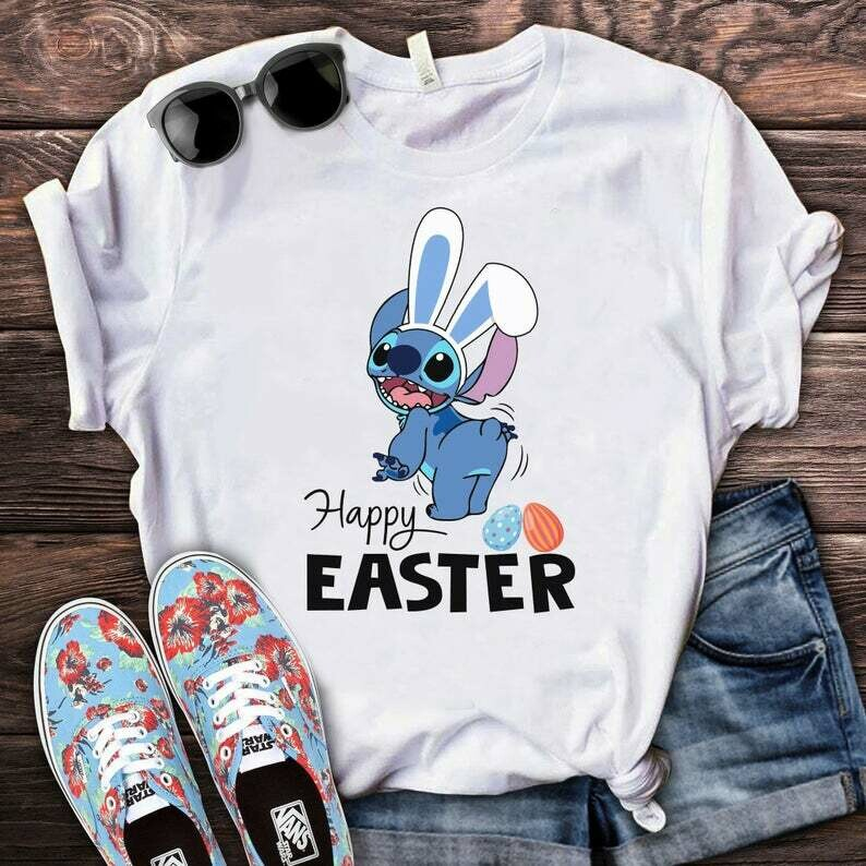 Costcotee Stitch Happy Easter Shirt, Disney Easter Egg Shirt, Lilo & Stitch Easter Shirt, Disney Spring Break Tee, Family Easter Stitch Bunny Shirt