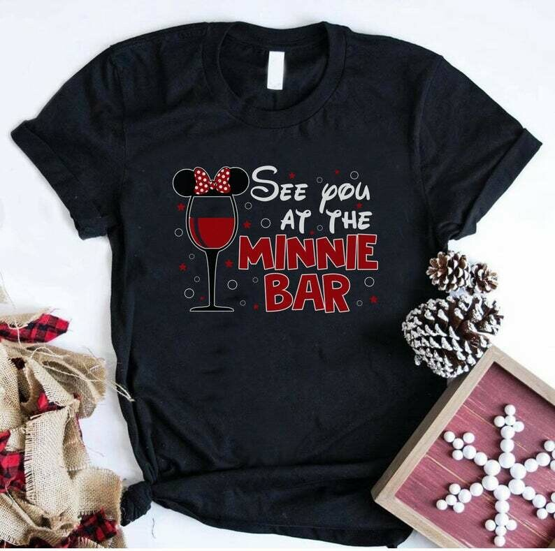 Costcotee See You At The Minnie Bar Disney Shirt, Disney Shirt, Disney Women Shirt, Minnie Mouse, Minnie Bar Shirt, Disney Bound Shirt, Epcot Shirt.