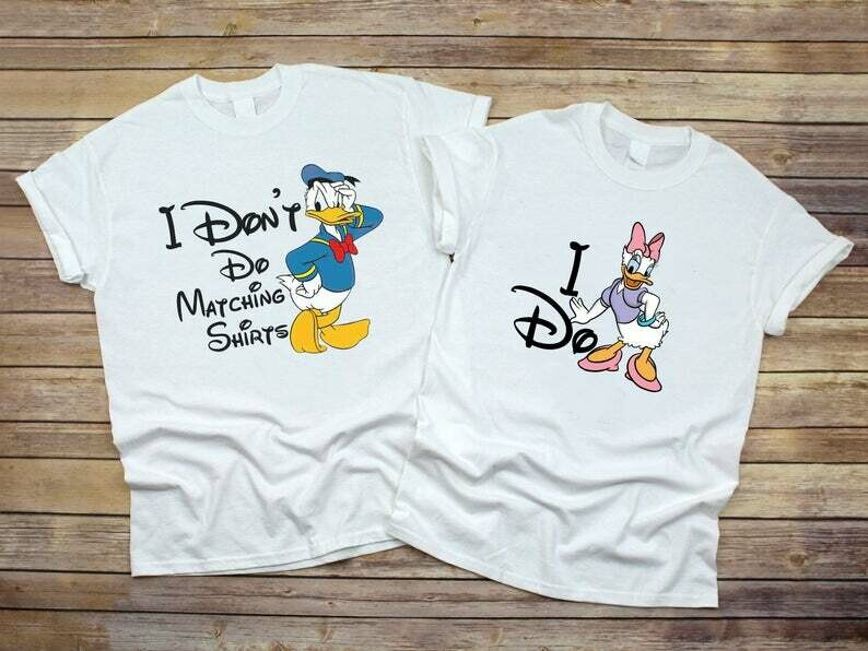 Costcotee I Don't Do Matching Shirt, Donald and Daisy Duck, Cute Disney Couple Shirt, Funny Couple Shirt, Valentine Gifts, Husband and Wife Shirt