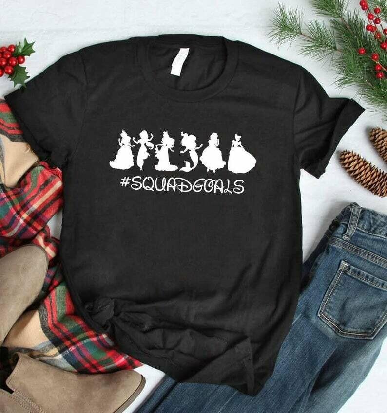 Costcotee Squad Goals Disney Princess Shirt, Disney Squad Goals Shirt for Women, Disney Shirts, Disney Family Shirts, Squad Goals Shirt