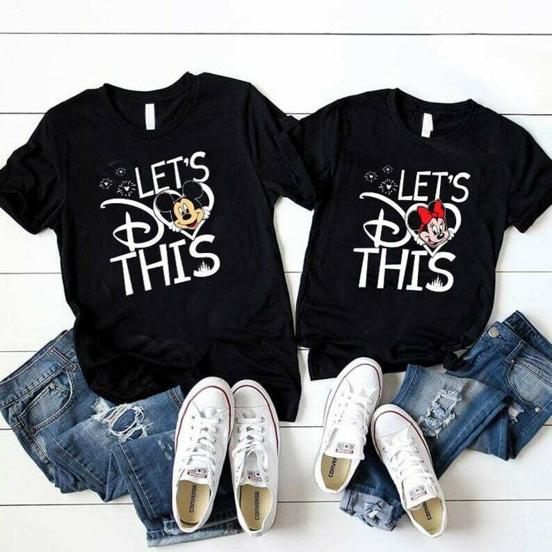 Costcotee Let's Do this Shirt, Cute Disney Couple Shirt, Disney Family Shirt, Disney Matching Shirt, Disney Cruise, Minnie and Mickey, Valentine 2020