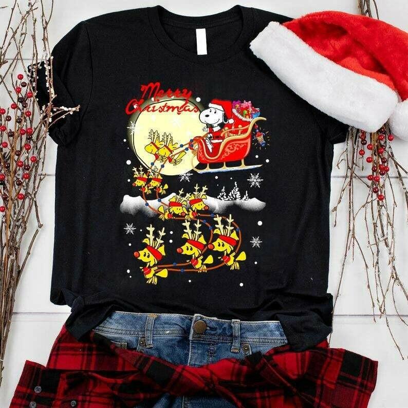 Costcotee Snoopy Cute Christmas Shirt 2019, Snoopy Merry Christmas shirt, Cute Snoopy shirt, Christmas Gifts, Snowmen, Snowflake, Santa Hat, Reindeer