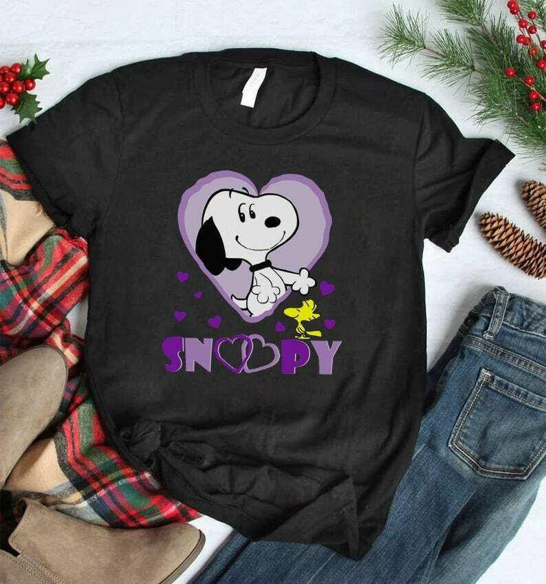 Costcotee Cute Snoopy Shirt, Funny Snoop Tees, Cute Disney sweatshirt, Peanuts T-Shirt, Snoopy from Charlie Brown and The Peanuts Gang, Cute Gift Idea