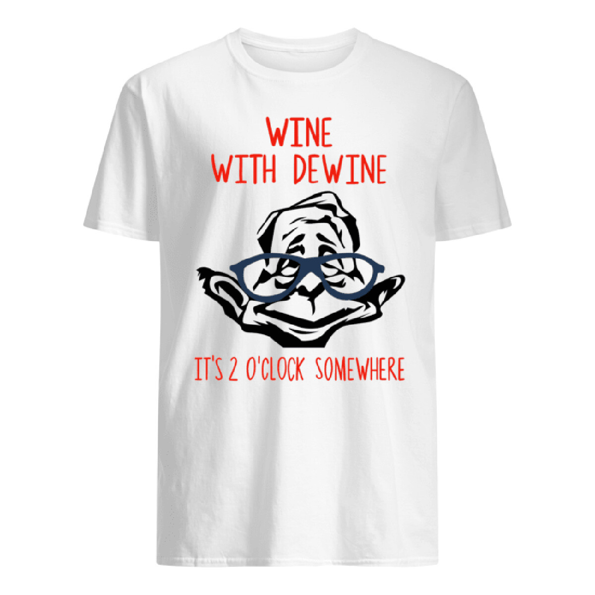 Costcotee Wine With Dewine It's 2 O'clock Somewhere T-Shirt Unisex Shirt Short-Sleeve Long-Sleeve V-Neck Tank Pullover Hoodie Sweatshirt Men Women Tee Gift