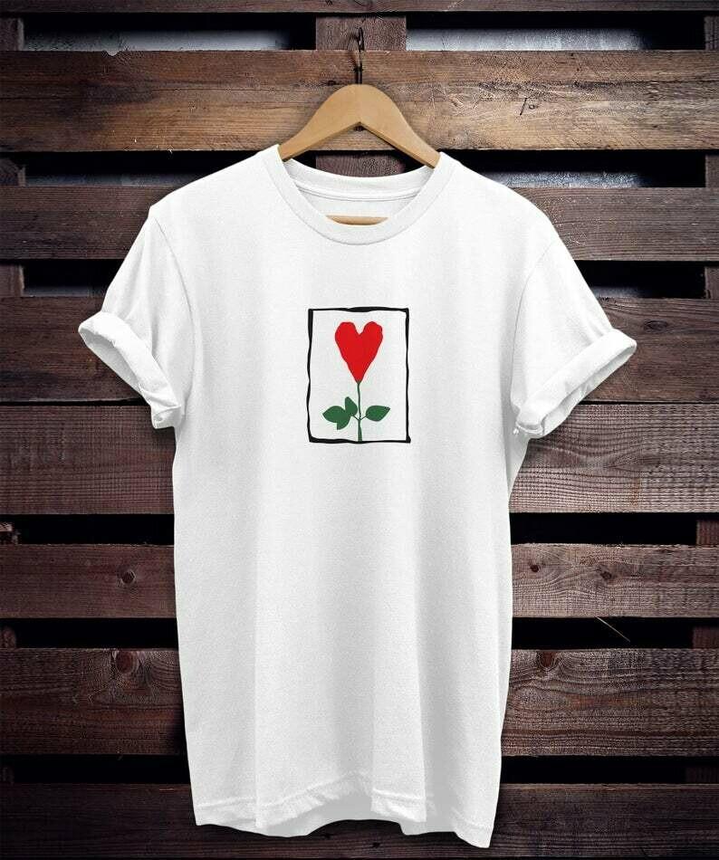 Costcotee Heart flower friends tshirt, Rachel Green shirt, rachel shirt, friends shirt tee top unisex womens friends shirt, friends tv show