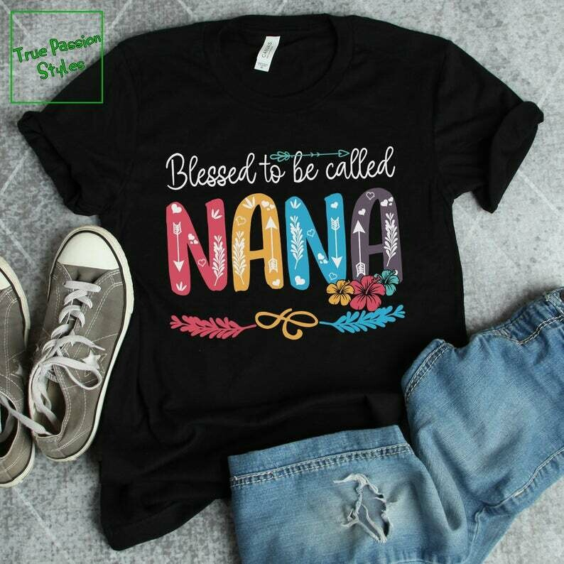 Costcotee Proud Nana Shirt, Blessed To Be Called Nana Tee Shirt, Funny Grandma T-shirt, Mother's Day Gift Idea, Christmas Present for Grandmother