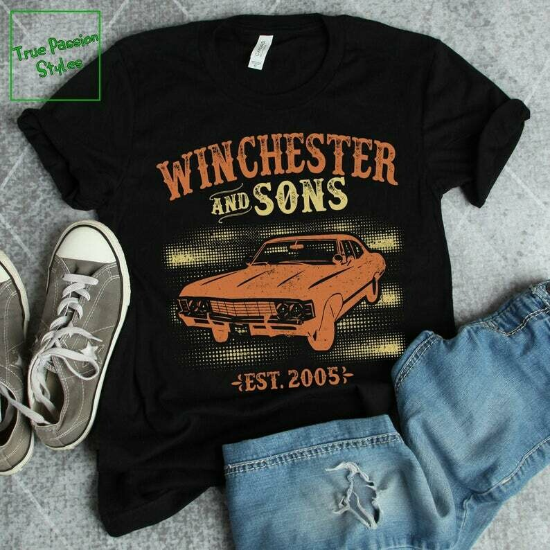 Costcotee Supernatural Shirt - Winchester And Sons Est 2005, Funny Supernatural T-shirt Collection - Winchester Brothers With Car Gift