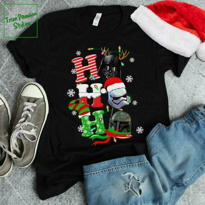 Costcotee Ho Ho Ho Star Wars Disney Christmas T-shirt, Sweater, Hoodie - Funny Dark Vader Stormtrooper Holiday Party Tee, Winter Trip Vacation Gift
