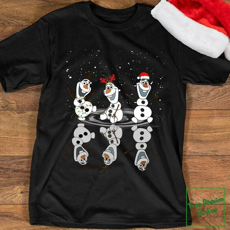 Costcotee Olaf Dancing Christmas T-shirt, Sweater, Hoodie - Christmas With Olaf Disney Holiday Party Tee Shirt, Frozen 1 & 2 Winter Trip Vacation Gift