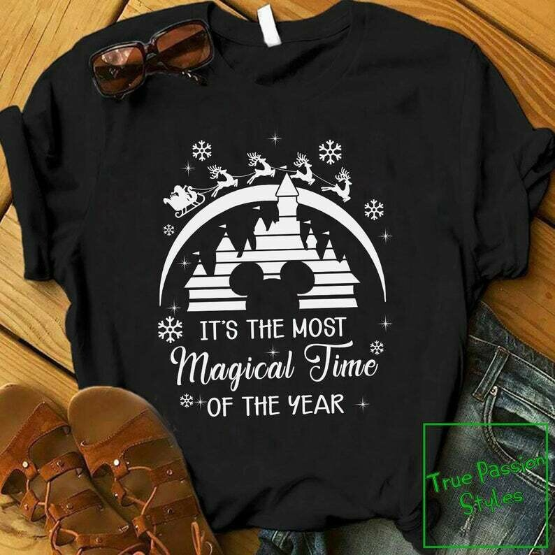 Costcotee Funny Christmas T-shirt, It's The Most Magical Time of The Year Tee Shirt, Humor Mickey Disney Castle Christmas Shirt, Sweater, Hoodie