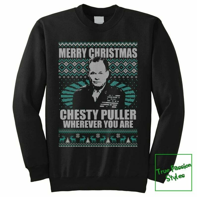 Costcotee Chesty Puller Ugly Pullover Sweater, Merry Christmas Wherever You Are Holiday Sweatshirt, MARINE Corps Military Sweatshirt