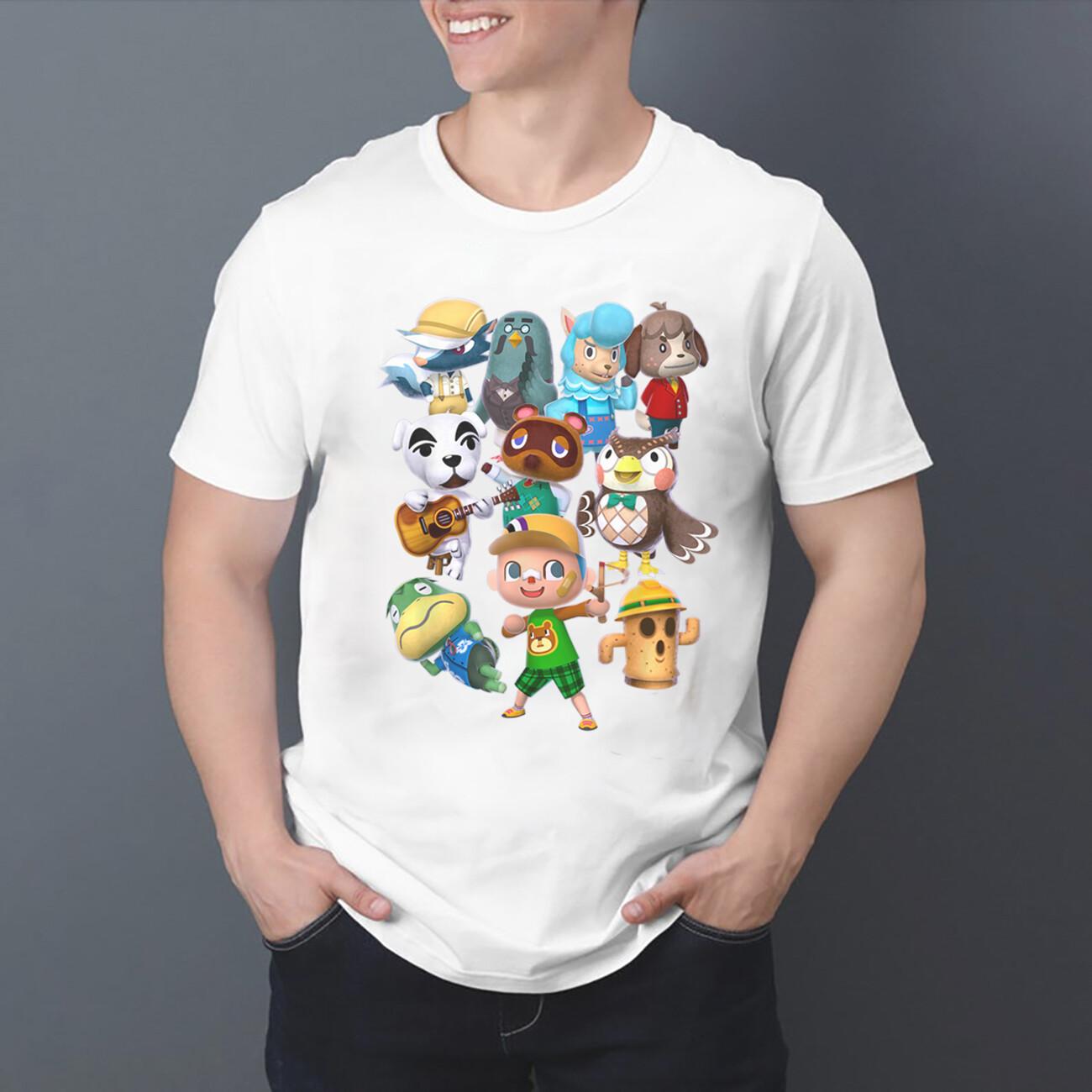 Animal Crossing Characters T-Shirt short-Sleeve Long-Sleeve V-Neck Tank Hoodie Sweatshirt Men Women Tee Gifts