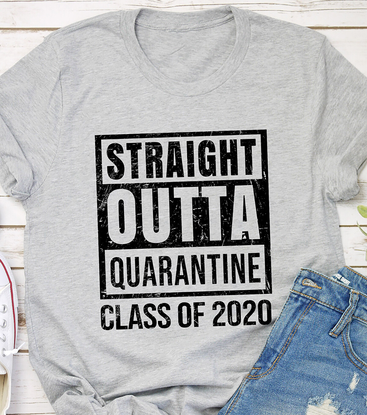 Straight Outta Quarantine Class Of 2020 T Shirt Unisex Shirt Short-Sleeve Long-Sleeve V-Neck Tank Pullover Hoodie Sweatshirt Men Women Tee Gift