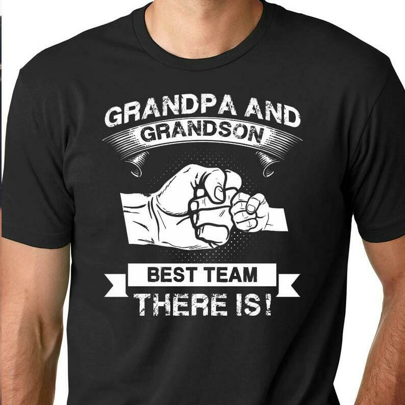 Grandpa and Grandson - New Grandfather shirt - Gift from Grandson