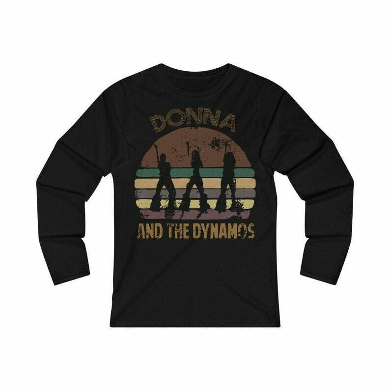 Donna and the dynamos Long Sleeve Tee Music Fan shirt distressed vintage retro style tee 09 Women's Fitted Long Sleeve Tee
