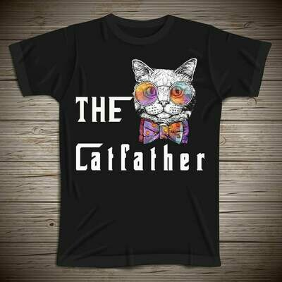 The Catfather, Funny Cat Lover T-Shirt, Cat Father Tshirt, fathers day shirt, The Godfather Father of Cats Funny Cat Dad, Parody shirt