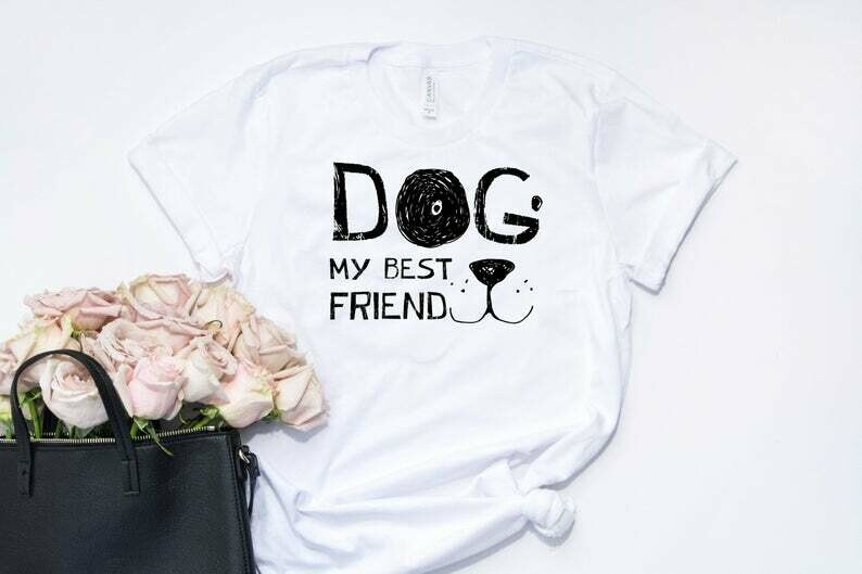 My Dog My Best Friend Funny Shirts Dog Lovers Novelty Cool T Shirt dog friend dog lover gift for dog lovers dog dad gift best dog dad
