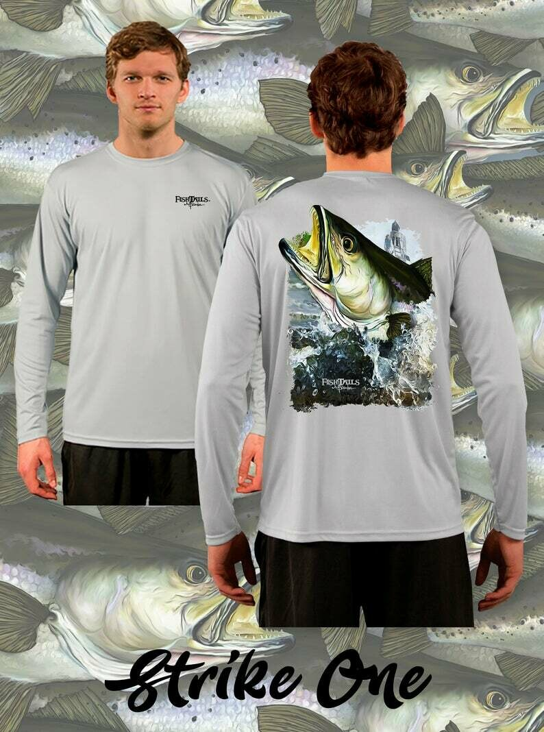 Strike One Performance Fishing T-shirt | Long Sleeve Custom Sublimated Apparel | Moisture Wicking Shirt for Men | Gift for Him