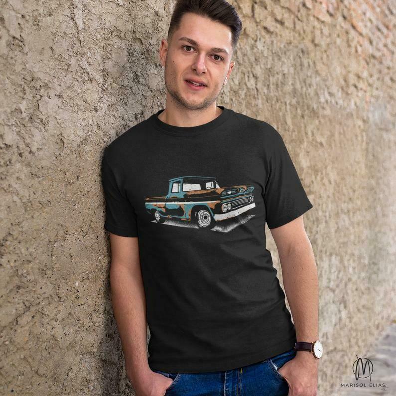 60 Chevy Apache Pickup Unisex T-Shirt, Men's Shirts, Women's Shirts, Classic Cars, Chevy Pickup, Truck Shirts, Vintage Cars, Chevy Shirts