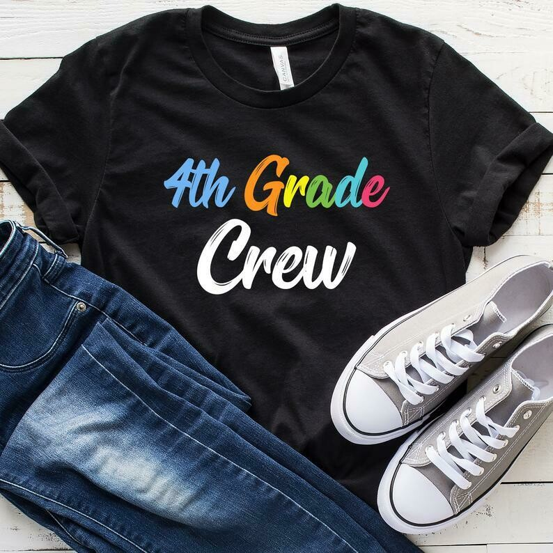 4th Grade Crew T-Shirt, Back To School, Student Teacher, 4th Grade Shirt, Fourth Grade, First Day Of School Gift, Tank Top, Hoodie
